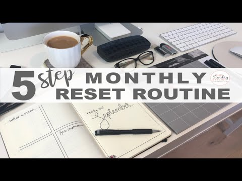 5 STEP MONTHLY RESET ROUTINE - PLAN AND ORGANIZE WITH ME || THE SUNDAY STYLIST thumbnail
