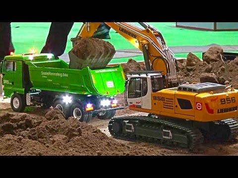BIG Construction-Site! Heavy Haulage RC Truck´s! Excavator Transport! Liebherr! ScaleART! MAN! MB!