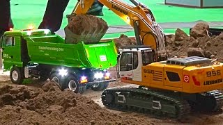 BIG Construction-Site! Heavy Haulage RC Truck´s! Excavator Transport! Liebherr! ScaleART! MAN! MB!