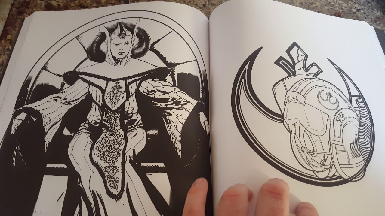 Adult Star Wars Colouring Books From WH Smiths