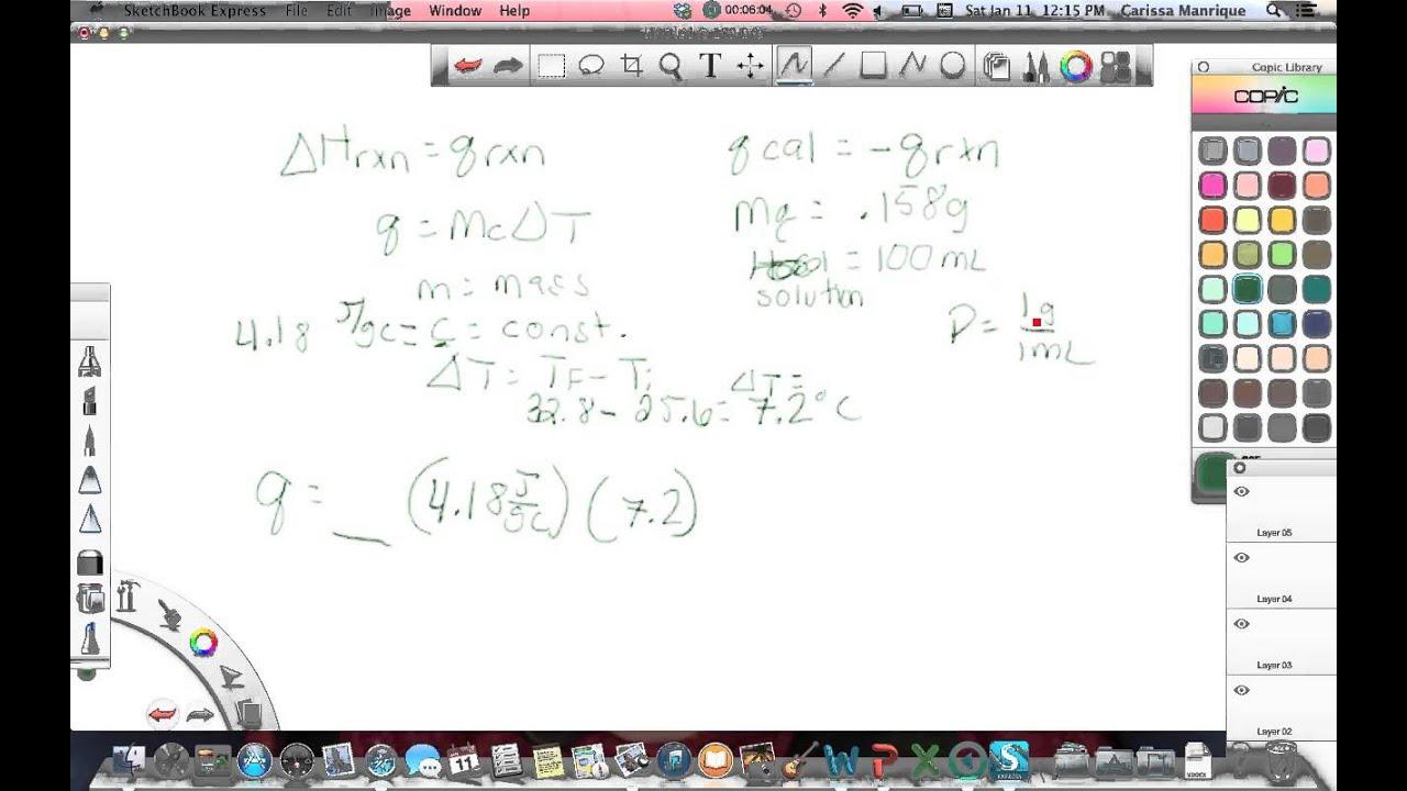 Coffee cup calorimeter problems - Calorimetry Constant Pressure
