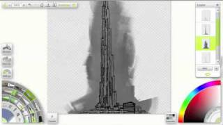 Drawing Burj Khalifa