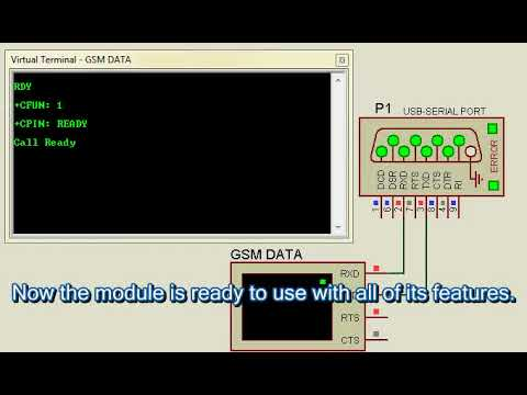 Interfacing GSM Module Using Proteus Simulation Software