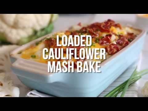 Low Carb Loaded Cauliflower Mash Bake - YouTube