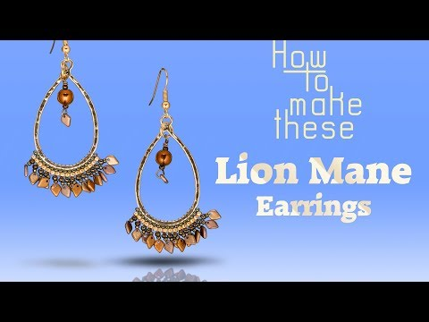 How To Make This Lion Mane Earrings | Dragon Scale Beads