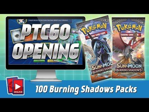 Opening 100 PTCGO Burning Shadows Booster Packs (FULL ART PULLS FOR DAYS)