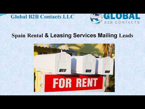 Spain Rental & Leasing Services Mailing Leads, http://global