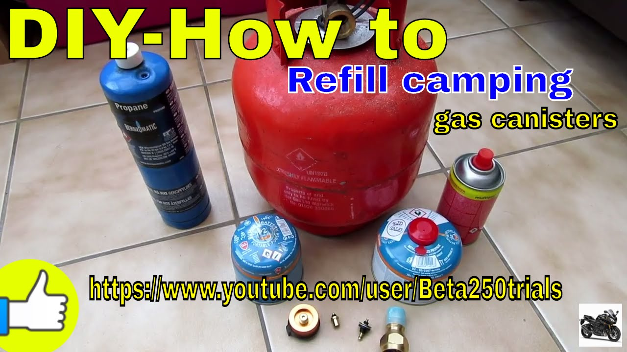 Diy How To Refill Camping Gas Canister Youtube