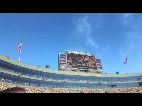 Lambeau Field National Anthem Flyover