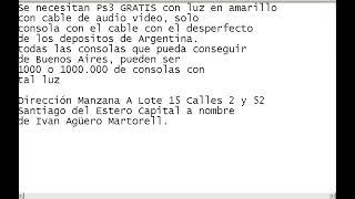 PS3 con Luz Amarillo Gratis de Argentina-EE:UU