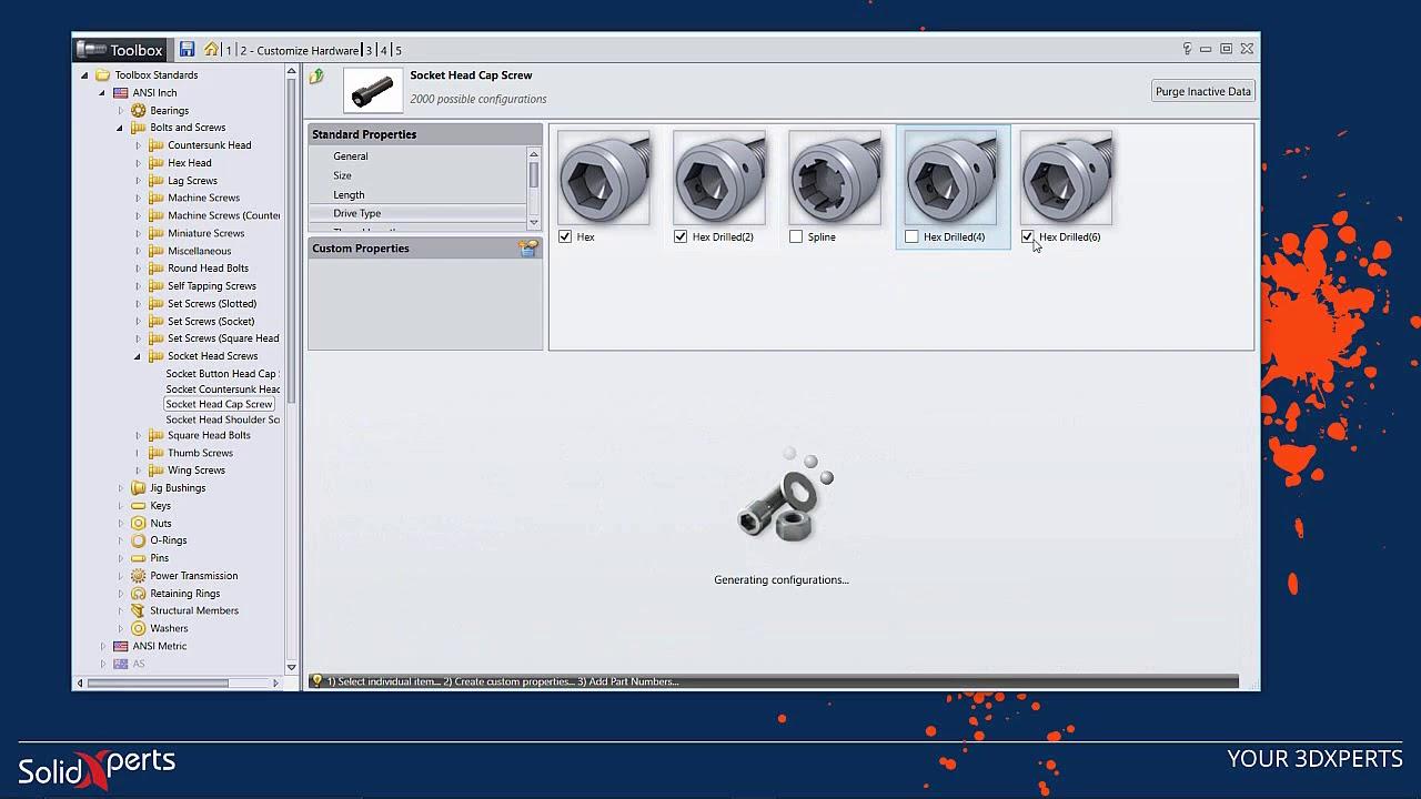 SOLIDWORKS 2018 - Toolbox Configuration - April 2018