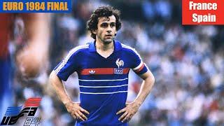EURO 1984 Final France vs Spain Highlights