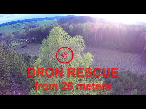 Drone Stuck On The Top Of The Tree (26m) And Rescue | Parrot Bebop 2 And Xiro Xplorer G