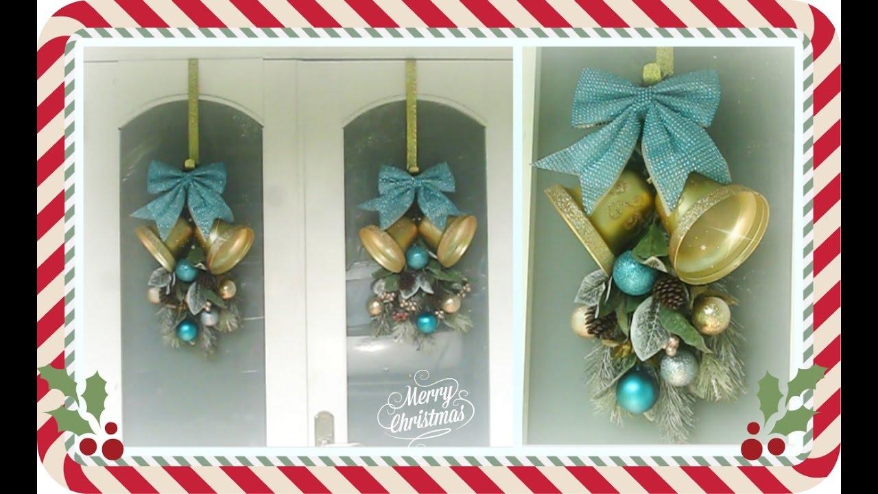 Como hacer un adorno de navidad para la puerta de entrada for Decoracion de la puerta de entrada
