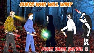 🔥 Michael vs Jason vs Freddy Krueger vs Jeff The Killer vs Jane The Killer | Creepypasta #ZvA