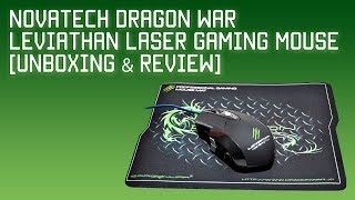 Novatech Dragonwar Leviathan Laser Gaming Mouse Unboxing amp Review