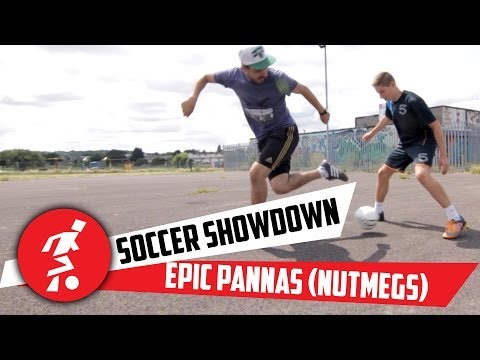Soccer down AMAZING panna skills Nutmegs