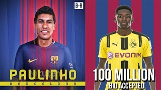 Latest transfer news : barcelona signs paulinho, dortmund accepted barcelona 100 million dembele bid