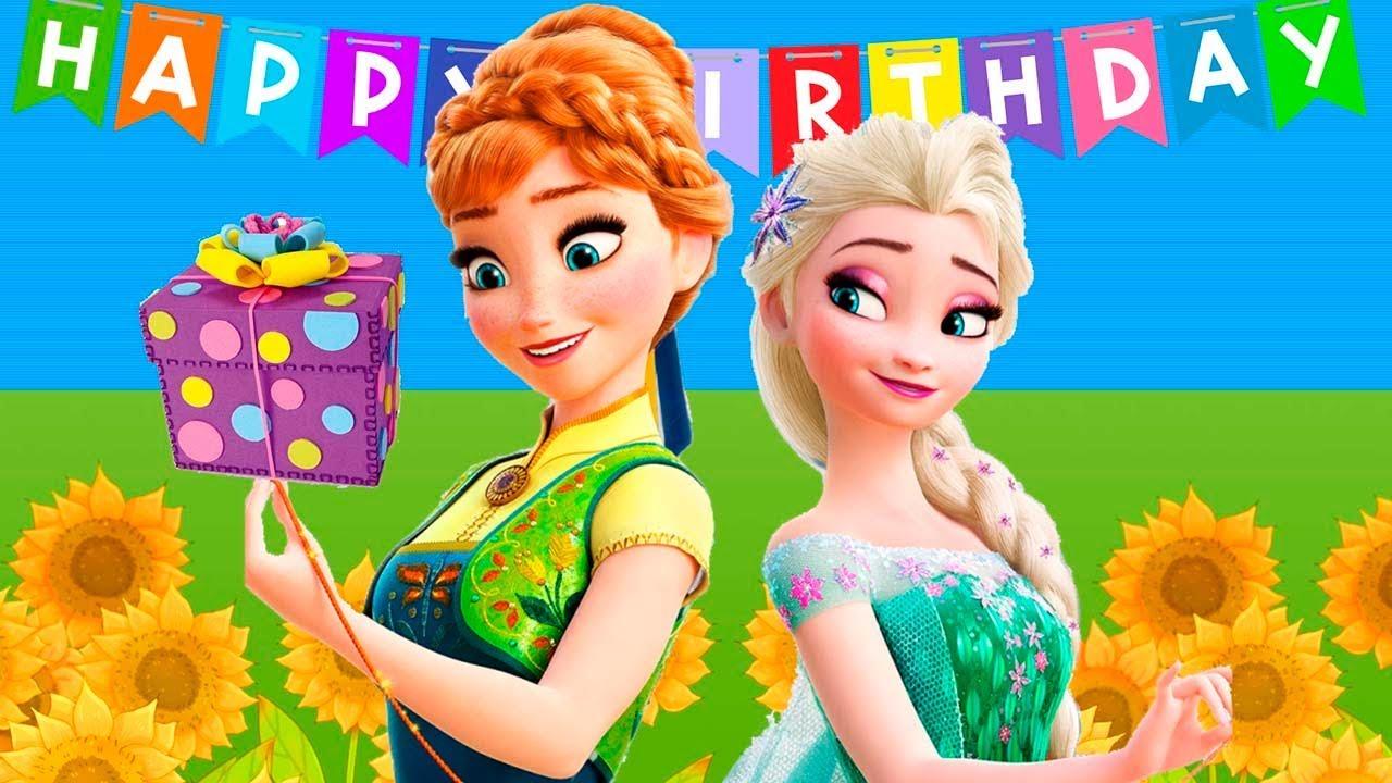 🎵🎈happy birthday 🎁 frozen fever ️happy birthday song 🎶