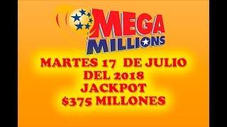 Gambar cover Resultados Mega Millions 17 Julio 2018 $375 Millones Powerball en Español