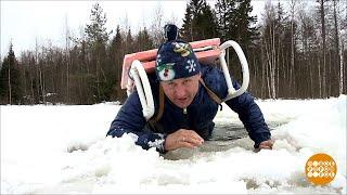 Дмитрий Талабуев и его спасательные санки.  27.02.2020
