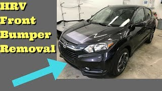 2015 2016 2017 2018 Honda HRV Front Bumper Cover Removal How to Remove Replace Install