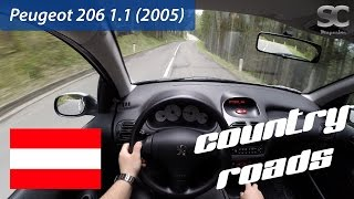 Peugeot 206 1.1 (2005) on Austrian Country Roads - POV Test Drive