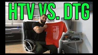 Heat Transfer Vinyl Vs. Direct to Garment Printing