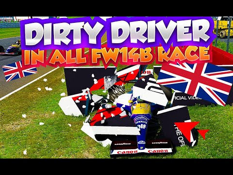 F1 2019 DIRTY DRIVER IN AI 110% RACE#11 ALL WILLIAMS 1992 FW14B RACE IN SILVERSTONE [4K60FPS] |