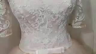 Цветное Свадебное платье 2018 с рукавами
