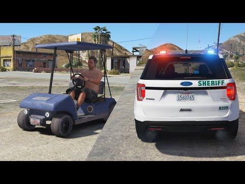 LSPDFR - Day 699 - 100+ mph golf cart