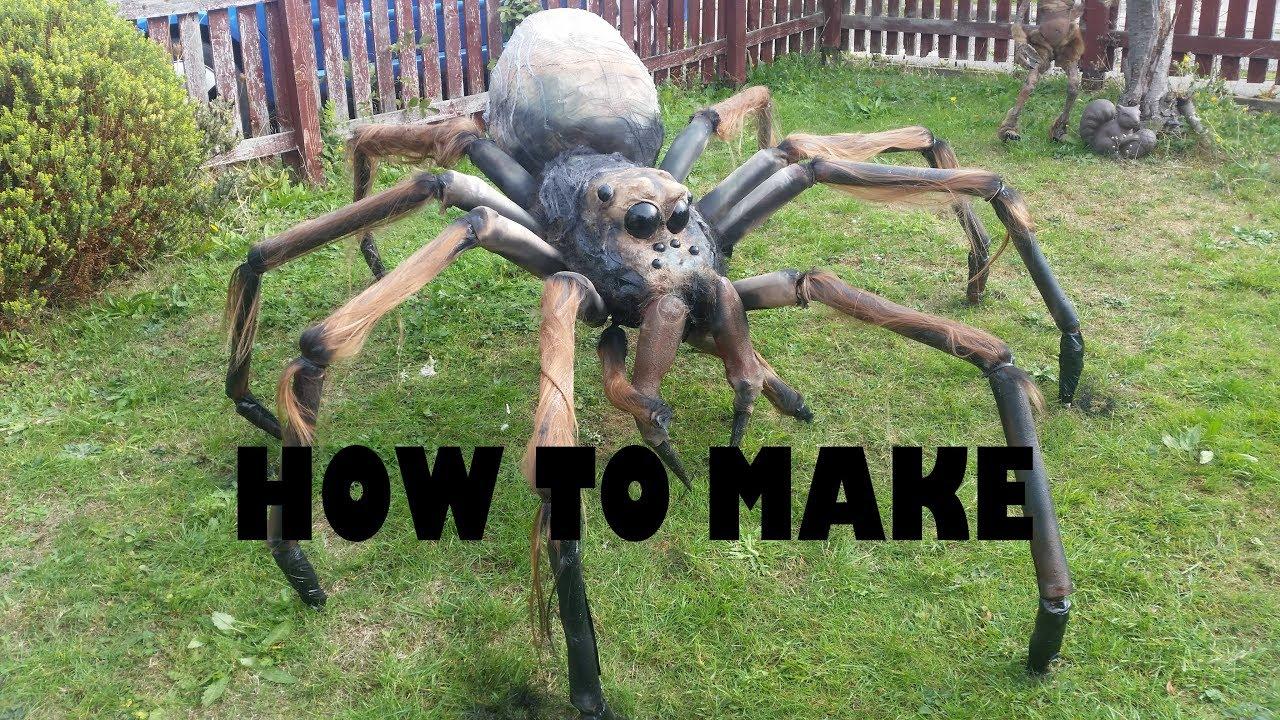 DIY giant spider halloween prop tutorial Rough Guide