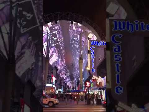 Fremont Street Experience at night | Downtown Las Vegas Nevada USA