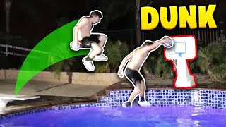 EPIC POOL MINI BASKETBALL DUNK CONTEST! **CRAZY** Video