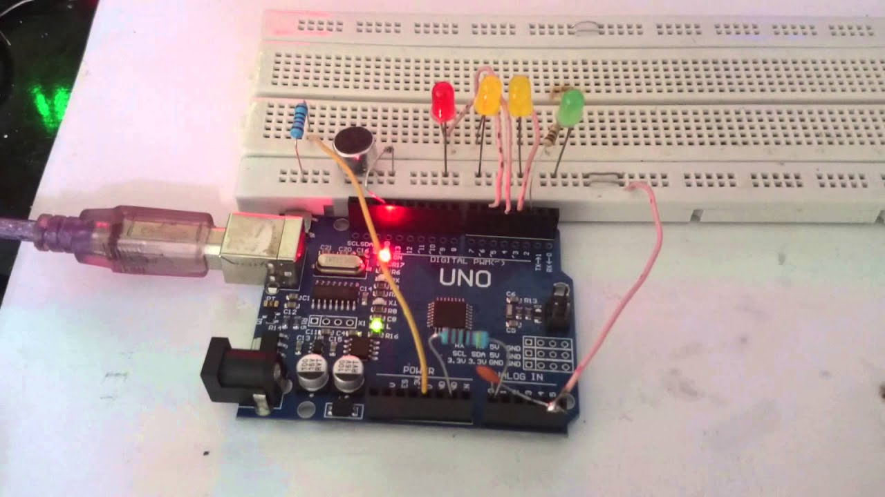 Sound Level Detector Using Arduino And Microphone Alarm Circuitdb Led