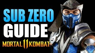 Mortal Kombat 11 - SUB ZERO Beginner&#39s Guide - All You Need To Know!
