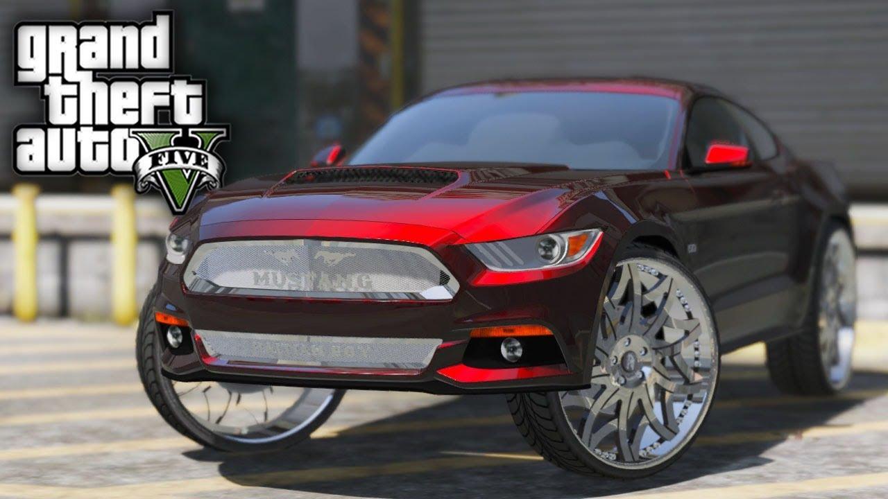 GTA 5 Real Hood Life #20 2015 Mustang on 28s & Buying a Rockford Shop!! (GTA 5 Hood Life Mods)