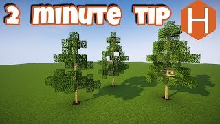 Easy Custom Trees 2 Minecraft 2 Minute Tip