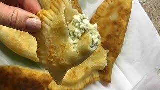 Чебуреки с творожно-сырной начинкой