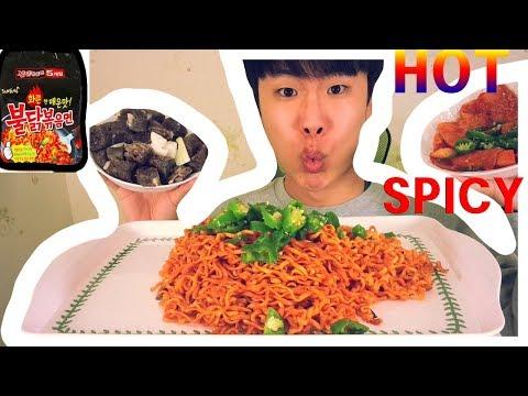 NUCLEAR EXTREME SPICY NOODLE)x(Korea Native Food Eating  show MUKBang  real soundASMR  korean 먹방