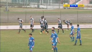 4 marzo 2017 sintesi Primavera Udinese -  Empoli 1- 3