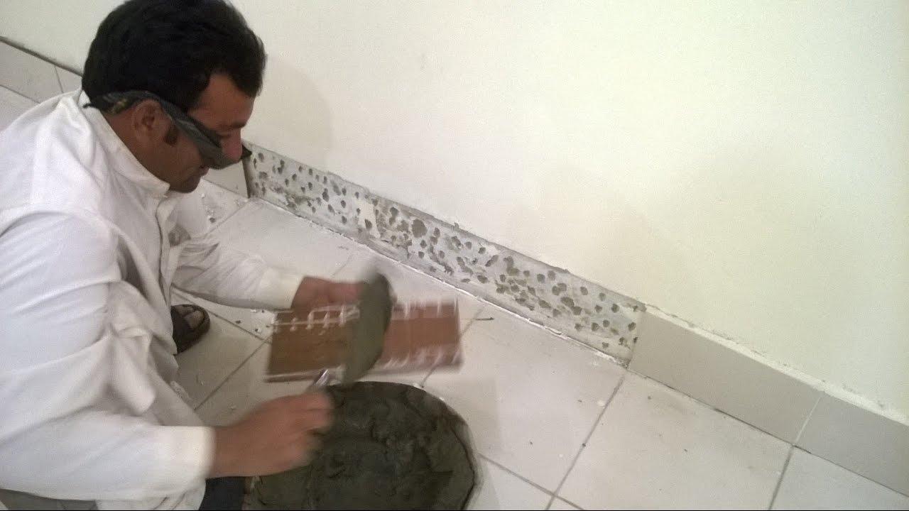 Fixing Of Skirting Tiles By Hashim Jah Temuri