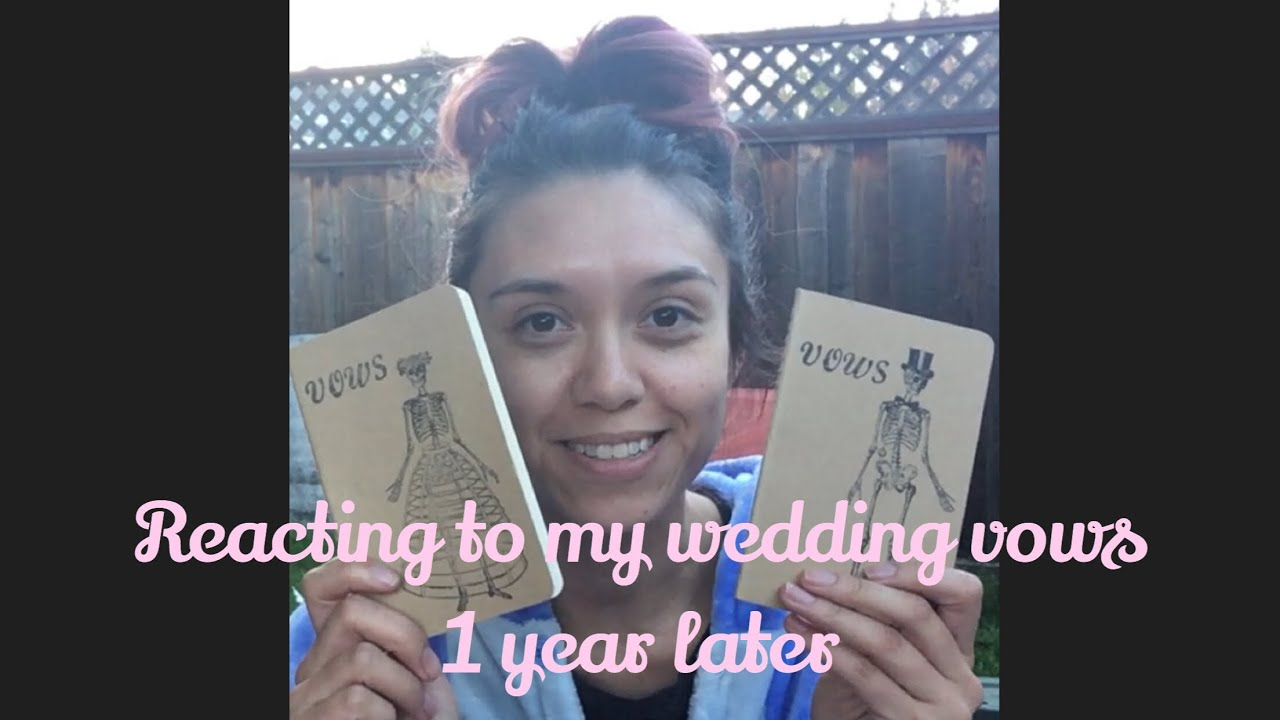 Reacting to My Wedding Vows 1 Year Later