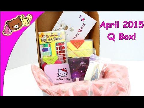 Q Box April 2015 - Cute Monthly Subscription Box...