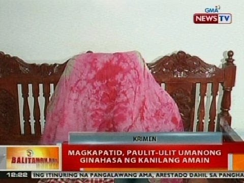 BT: Magkapatid sa Pasay, paulit-ulit umanong ginahasa ng kanilang amain