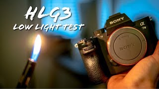 Sony a7iii hlg3 vs cine 4 by candlelight