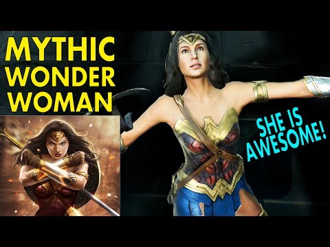 Injustice 2 Mobile. Mythic Wonder Woman GAMEPLAY + Review. Best Wonder Woman Character!