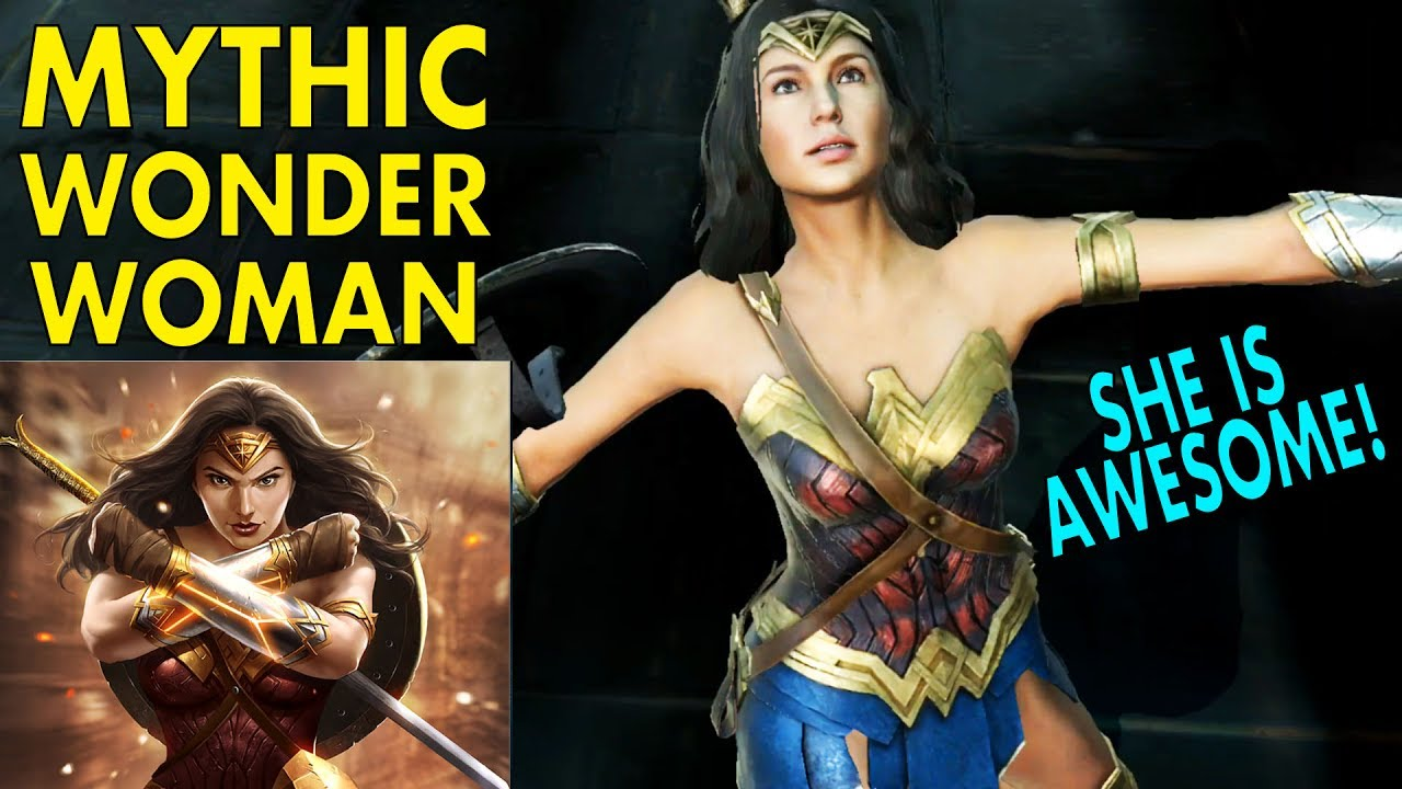 injustice  mobile mythic  woman gameplay review   woman character youtube