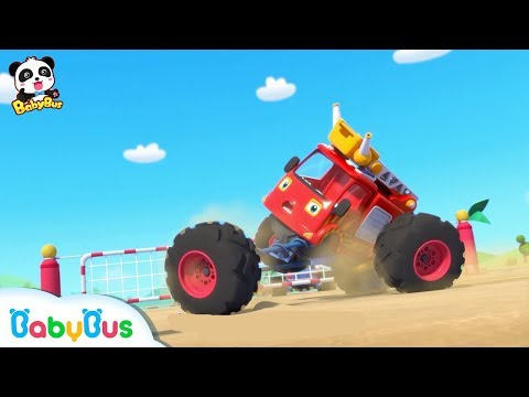 Monster Cars' Beach Vacation | Monster Truck Song | Nursery Rhymes | Baby Songs | BabyBus