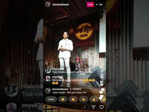Single terbaru donnie sibarani ft Krisna - Will You Marry Me (live instagram)